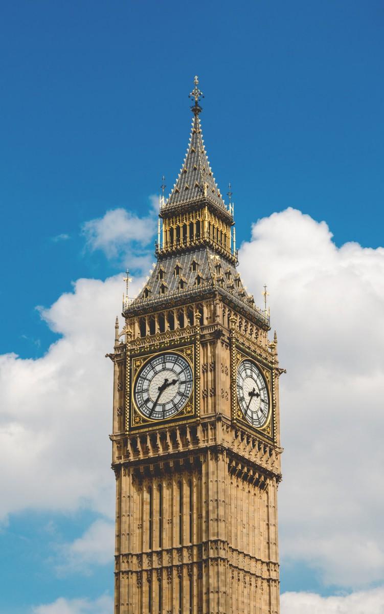 ساعت-برج-برج ساعت-لندن-اسمان-آبی-ابر