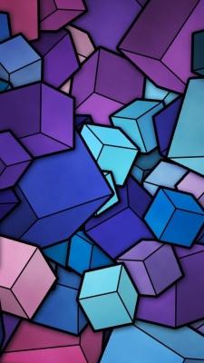 مکعب-مکعبی-رنگی