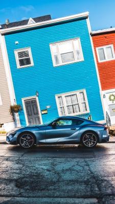 ماشین-خیابان-آبی