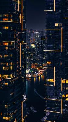 ساختمان-شهر-شب-رودخانه