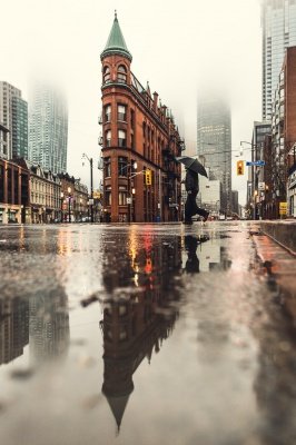باران-چتر-شهر