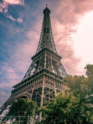 برج-برج ایفل-فرانسه-غروب
