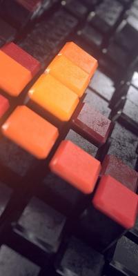 مکعبی-مکعب-نارنجی-خاکستری