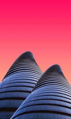 نما-ساختمان-صورتی-نمای شیشه ای