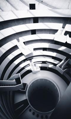 راه پله-مارپیچ-سیاه و سفید
