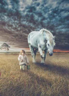 اسب-دختر