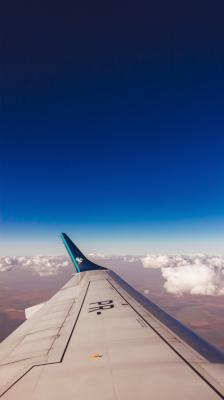 بال هواپیما-آبی-آسمان