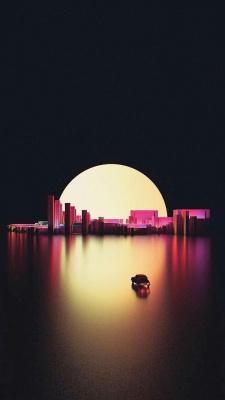 شهر-ماه-شب-ماشین