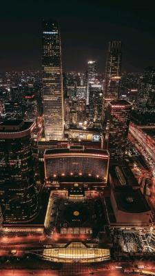 شب-شهر-ساختمان-آسمان خراش