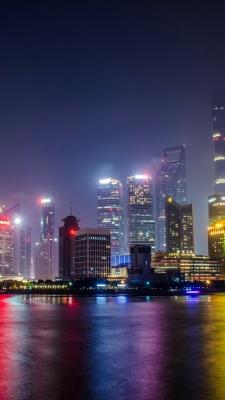 شهر-شب-ساختمان-آسمان خراش