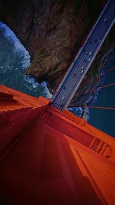 پل-صخره-پل کابلی-نارنجی