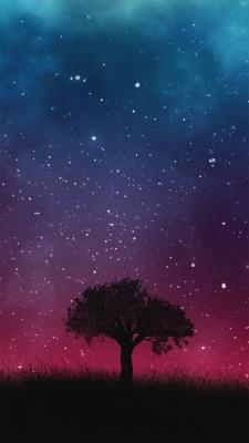 شب-ستاره-بنفش-آسمان