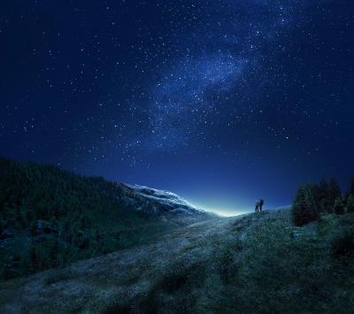 آسمان-ستارگان-شب-دشت-کوهنوردی