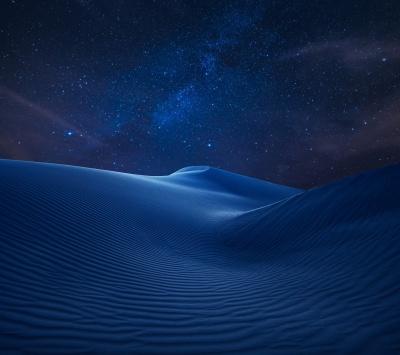 شب-ستارگان-کویر-بیابان-سورمه ای