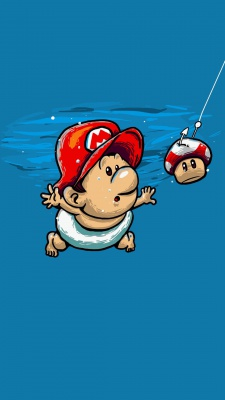 قارچ خور-بازی-آبی-ماریو