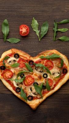 پیتزا-فست فود-قلب
