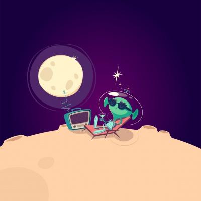 بنفش-آدم فضایی-مریخ-مریخی