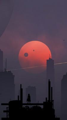 خاکستری-ماه-شب-تنهایی