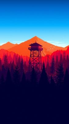 کوه-آبی-نارنجی