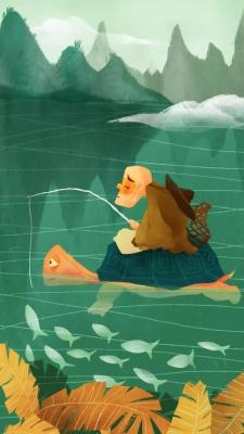ماهیگیری-ماهی-سبز