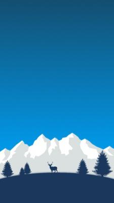 آبی-سورمه ای-کوه