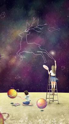 دختر-بنفش-سیاره-گوزن