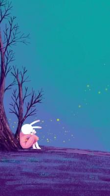 خرگوش-ناراحت-فیروزه ای