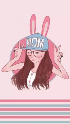 کلاه-صورتی-دختر