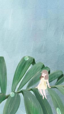 دختر-سبز-آبی-باران