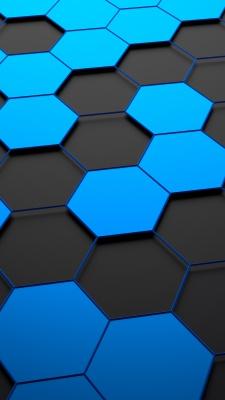 شش ضلعی-آبی-خاکستری