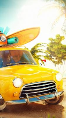 زرد-ماشین-مسافرت