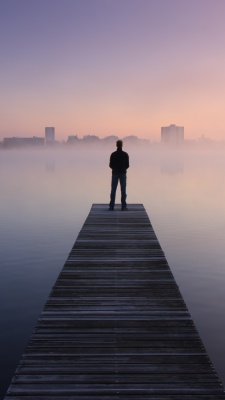 پل-اسکله-مه-تنهایی