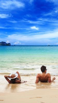 آبی-ساحل-عاشقانه